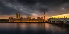 this is one of my more favourite spots in the city to photograph. facing west, the sun will set behind the houses of parliament and if...