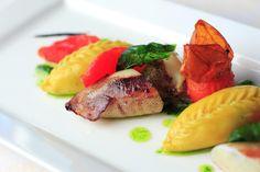 Culurgiones con calamari www.hotelcapodorso.com #food #Sardinia #colour