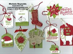 Christmas Tags with Various Sets