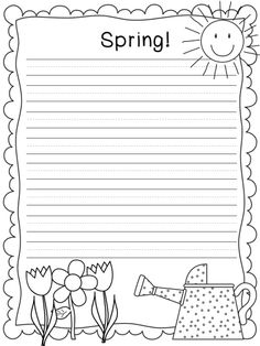 A Sunny Day in First Grade: Spring Writing!