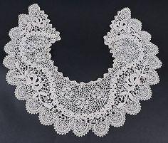 BEAUTIFUL-ANTIQUE-IRISH-CROCHET-LACE-COLLAR-FOR-DRESS
