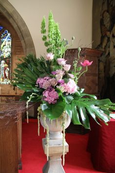 Flower Design Events: Church Pedestal at  St Michael's Church Whitewell
