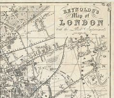 Old Map of London  England United Kingdom 1851 di OldCityPrints, $52.00