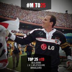 Top #M1TO25: 19º - Lesionado, Rogério recuperou-se em tempo recorde para o jogo que deu o título de 2006 ao Tricolor (via São Paulo FC - Twitter)