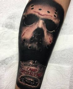... .com/tattoo-jason-mask-with-scripture/ | #Tattoo #Tattooed #Tattoos
