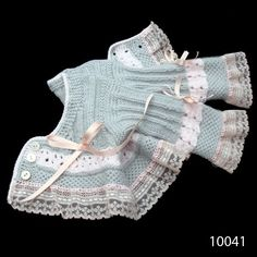 Picture Of Beautiful Baby Boutique Ii - Qoster Crochet Baby Sweater Pattern, Baby Sweater Patterns, Baby Afghan Crochet, Cute Crochet, Baby Girl Dresses Diy, Baby Dress, Lace Knitting, Knitting Stitches, Baby Pullover Muster