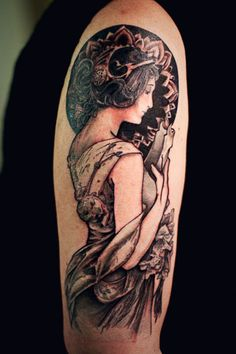 1000 images about mucha art nouveau tattoos on pinterest for Minimalist tattoo artist austin