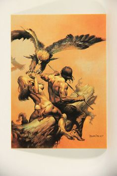 L010220 Boris Vallejo 1991 Card / The Lavalite World - 1977 Card #23 / ARTWORK