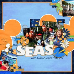 Disney World - The Seas with Nemo and Friends scrapbook page layout