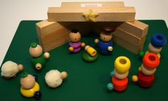 Nativity set out of beads
