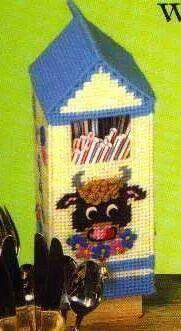 Milk carton straw keeper