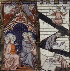 Builders  from Bible Historiale