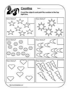 Counting Objects Worksheet 1 | Numbers / Counting (K) | Pinterest ...