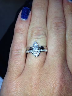 my channel set diamond wedding band bespoke to fit marquise diamond ring