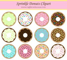 Free Sprinkle Donut Clipart – Night Owl Moms