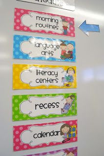 Mrs. Ricca's Kindergarten: Daily Schedule Cards {TPT Store}
