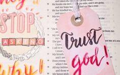 "Bible Art Journaling zu ""Hiob der Glaubensheld"""