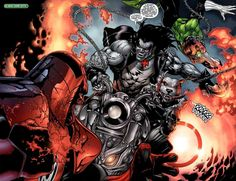 Lobo vs. Green Lantern and Atrocitus | DC Comics