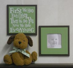 Green and Brown Baby Nursery Room Decor  Set of 2  by NelsonsGifts, $29.90