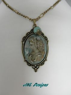 A Hand Altered Vintage Looking Girl Cameo by TreasuresofJewels, $20.00