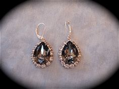 c4bbfdffd Black and Silver Wedding Jewelry Collection - The Crystal Rose Bridal  Jewelry and Accessories