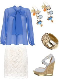 blues and whites, created by maryoldani on Polyvore