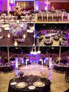 purple themed decor at indian reception  Courtesy  Wedding Documentary Photo + Cinema by Vijay Rakhras  Shaadi Belles : Search, Save, & Share your South Asian Inspiration