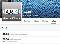 Wondering where could I find 957 new Likes for Aurifil's Page on https://www.facebook.com/aurifil.quilt.thread ?  What did you say ? .... you are going to share about ?  OH Yes good idea I like that, thank you.