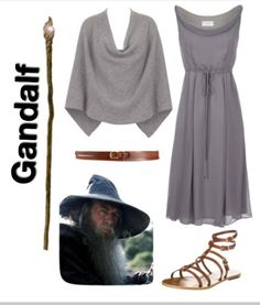 Why is this making me laugh so much? Chicks be clammerin' to dress like Gandalf, son. The Hobbit inspired outfit ~ gandalf the grey