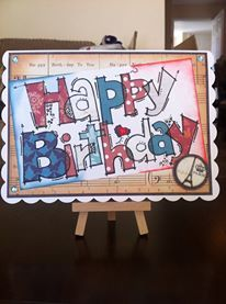 Woodware huge happy birthday stamp paper piecing background huge words woodware stamp happy birthday french themed 5 x 7 card bookmarktalkfo Choice Image
