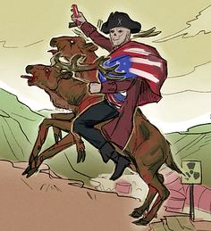 John Hancock is wearing an American flag and riding a radstag your argument is invalid