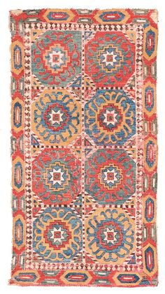 Caucasian embroidery Caucasus, late 17th century 4ft. 0in. x 2ft. 2in.