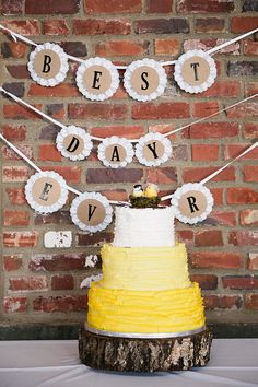 黄色のフリルのケーキ|メレディスマッキー写真|グラマー&グレイス