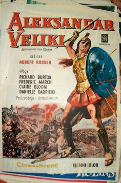 Aleksandar Veliki, filmski poster   Alexander the Great, movie poster