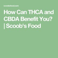 How Can THCA and CBDA Benefit You?   Scoob's Food