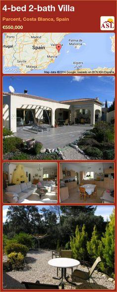 4-bed 2-bath Villa in Parcent, Costa Blanca, Spain ►€550,000 #PropertyForSaleInSpain