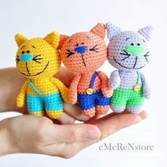 Gatinhos amigurumi