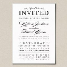 funny wedding invitation wording loved by www.greekweddings.com