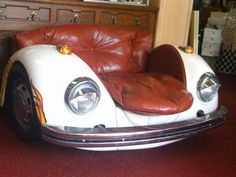 VOLKSWAGEN BEETLE CAR CHAIR VINTAGE ART FURNITURE