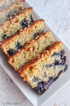 Lemon Blueberry Oatmeal Bread
