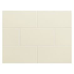 "Complete Tile Collection Vermeere Ceramic Tile - Almond # 6 - Gloss, 3"" x 6"" Manhattan Ceramic Subway Tile, MI#: 199-C1-311-561, Color: Almond # 6"