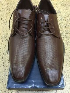 New Men's Amali Dark Brown Dress Shoes US Sizes with Laces Style 6800-65 #Amali #OxfordswithLaces