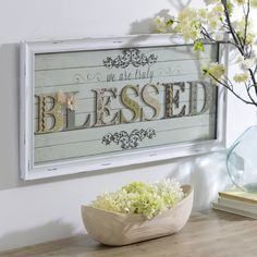Count your blessings with this gorgeous shadowbox.