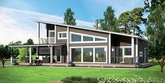 casa de madera KU206 de Kuusamo Log Houses, ecológica, eficiente y sana