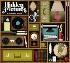 Illustrated Album Art by Jordan Gray for folk-pop band Hidden Pictures