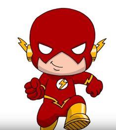 How to Draw Flash from Justice League step by step The Flash Cartoon, Cartoon Kids, Cartoon Art, Cartoon Drawings, Easy Drawings, Cartooning 4 Kids, Marvel Cartoons, Marvel Comics, Chibi
