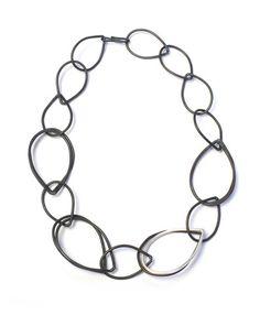 Amy necklace - black chain link necklace – megan auman