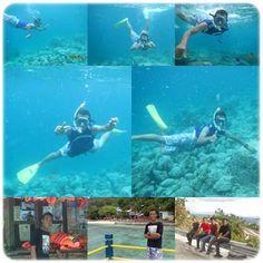 pada saat snorkeling di patai rubiah