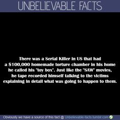 There was a Serial Killer in US that had a $100,000 homemade torture ...