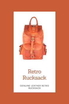 Our Genuine Leather Retro Rucksack is designed with high-end goat leather material and features a fashionable and durable frame Small Leather Bag, Leather Purses, Brown Backpacks, Leather Bags Handmade, Leather Material, 5 D, Goat, Retro, Frame